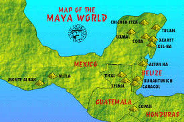 Mayan Empire Map Map of Mayan Empire   Mayans vs. Incas